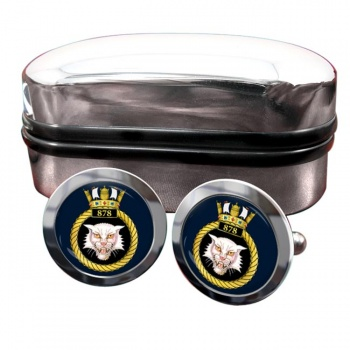 878 Naval Air Squadron (Royal Navy) Round Cufflinks
