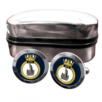 879 Naval Air Squadron (Royal Navy) Round Cufflinks