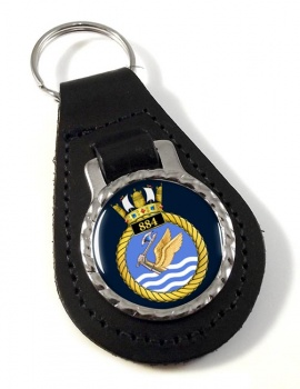 884 Naval Air Squadron Leather Key Fob