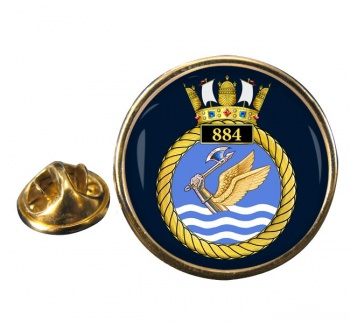 884 Naval Air Squadron Round Pin Badge