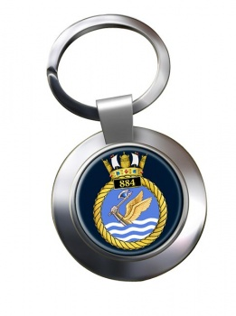 884 Naval Air Squadron Chrome Key Ring