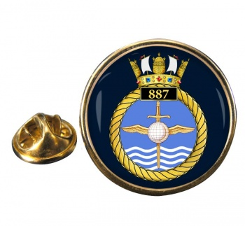 887 Naval Air Squadron Round Pin Badge
