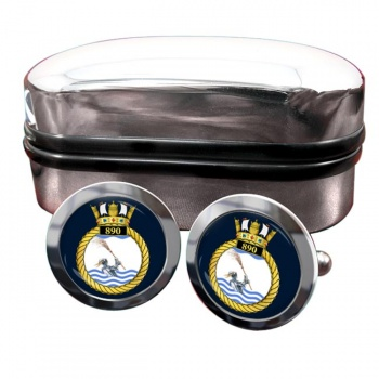 890 Naval Air Squadron (Royal Navy) Round Cufflinks