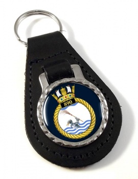 890 Naval Air Squadron (Royal Navy) Leather Key Fob