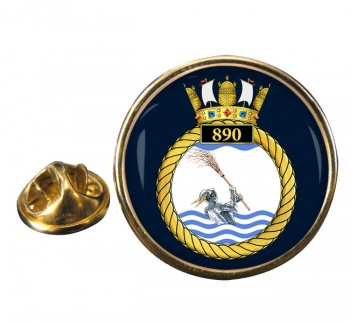 890 Naval Air Squadron (Royal Navy) Round Pin Badge