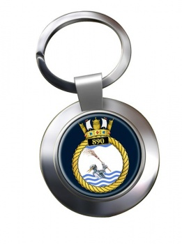 890 Naval Air Squadron (Royal Navy) Chrome Key Ring