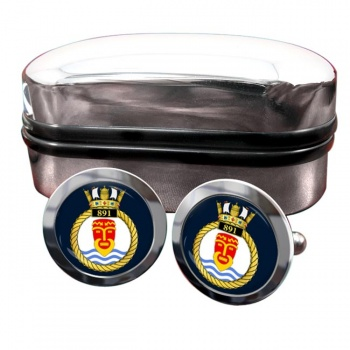 891 Naval Air Squadron (Royal Navy) Round Cufflinks