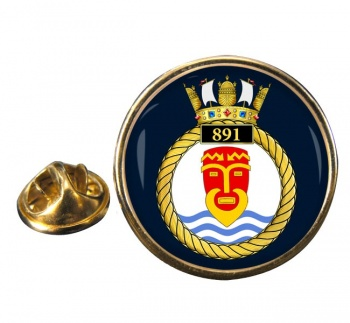 891 Naval Air Squadron (Royal Navy) Round Pin Badge