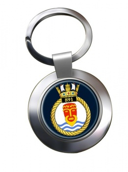 891 Naval Air Squadron (Royal Navy) Chrome Key Ring