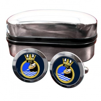 893 Naval Air Squadron (Royal Navy) Round Cufflinks