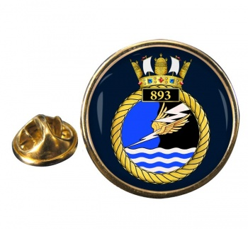 893 Naval Air Squadron Round Pin Badge