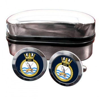 895 Naval Air Squadron (Royal Navy) Round Cufflinks