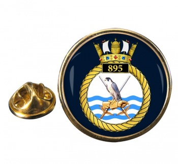 895 Naval Air Squadron (Royal Navy) Round Pin Badge