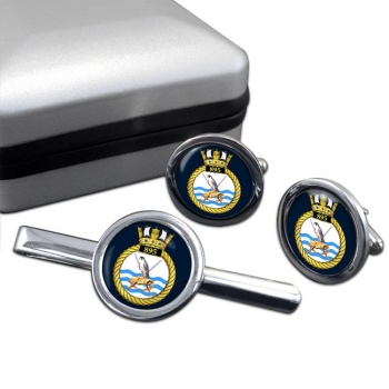 895 Naval Air Squadron (Royal Navy) Round Cufflink and Tie Clip Set