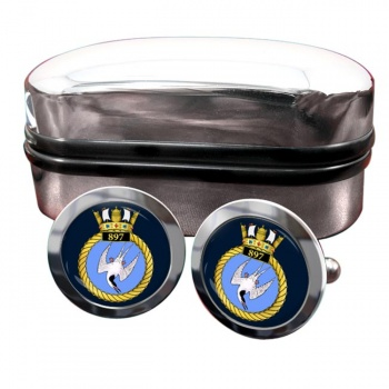 897 Naval Air Squadron (Royal Navy) Round Cufflinks