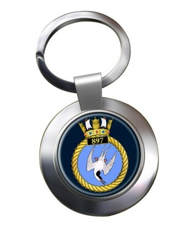 897 Naval Air Squadron (Royal Navy) Chrome Key Ring