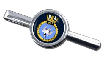 897 Naval Air Squadron (Royal Navy) Round Tie Clip