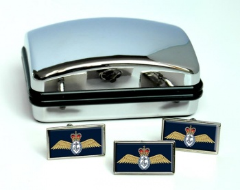 Fleet Air Arm Wings Rectangle Cufflink and Tie Pin Set