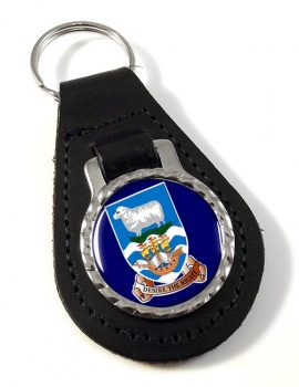 Falkland Islands Leather Key Fob
