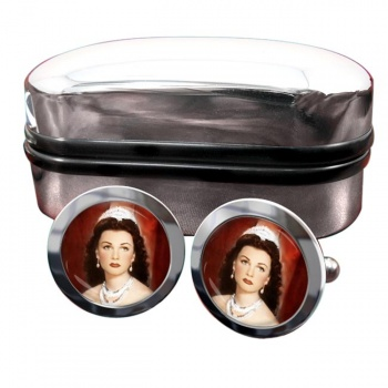 Fawzia of Egypt Round Cufflinks