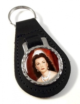 Fawzia of Egypt Leather Key Fob