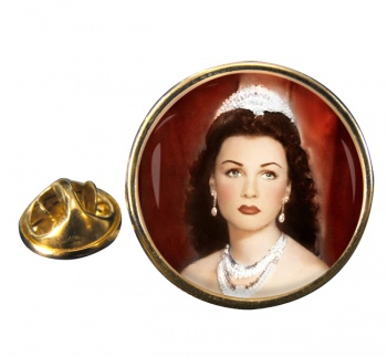 Fawzia of Egypt Round Pin Badge