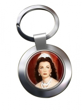 Fawzia of Egypt Chrome Key Ring