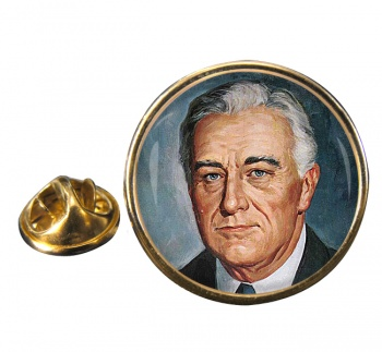Franklin D Roosevelt Round Pin Badge