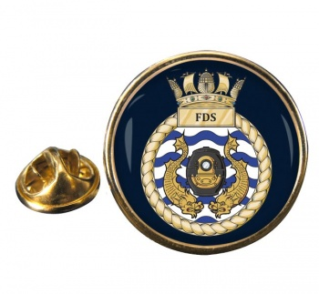 Fleet Diving Squadron RN Round Pin Badge