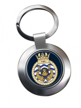Fleet Diving Squadron RN Chrome Key Ring