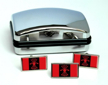 FE de las JONS Flag Cufflink and Tie Pin Set