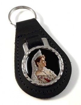 Alexandra Feodorovna Leather Key Fob