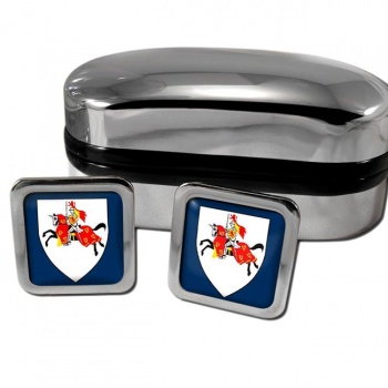 Fifeshire Scotland Square Cufflinks