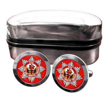 Fife Fire and Rescue Round Cufflinks