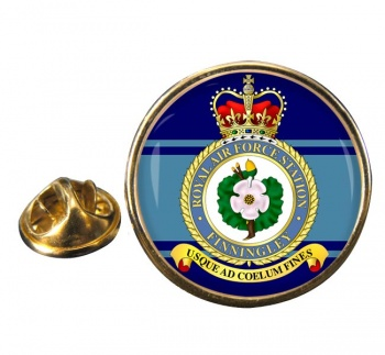 RAF Station Finningley Round Pin Badge