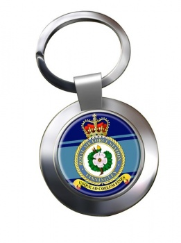 RAF Station Finningley Chrome Key Ring