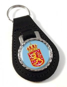 Finnish Coats of Arms Leather Key Fob