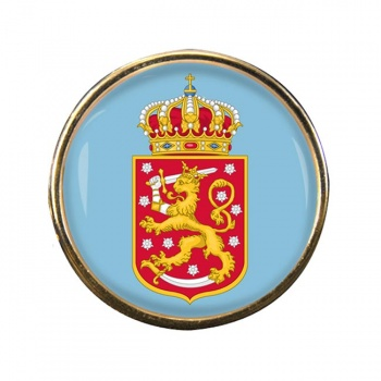 Finnish Coats of Arms Round Pin Badge