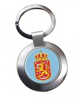 Finnish Coats of Arms Metal Key Ring