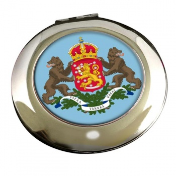 Finnish Coats of Arms Round Mirror