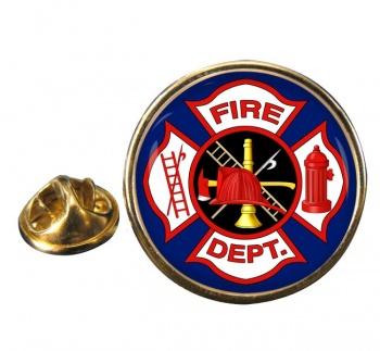 Fire Cross Round Pin Badge