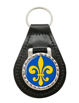 Fleur-de-lis Leather Key Fob