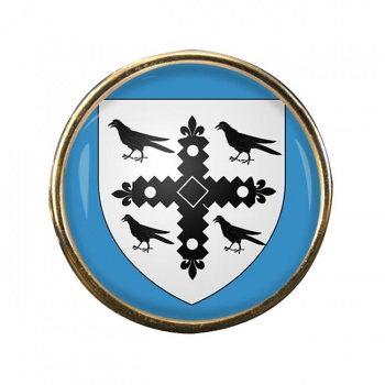 Flintshire Round Pin Badge