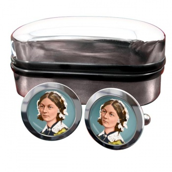 Florence Nightingale Round Cufflinks
