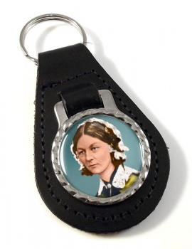 Florence Nightingale Leather Key Fob