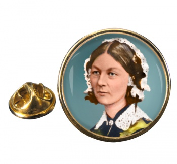Florence Nightingale Round Pin Badge
