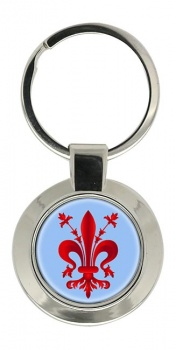 Florentine Fleur-de-lis Chrome Key Ring