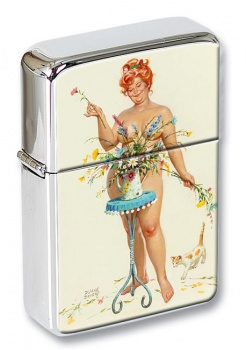 Arranging Flowers Pin-up Girl Flip Top Lighter