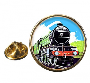 Flying Scotsman Vintage Poster Round Lapel