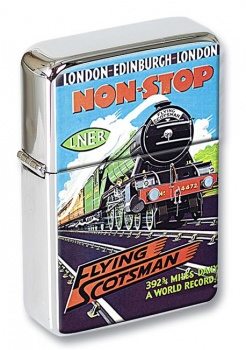 Flying Scotsman Vintage Poster Flip Top Lighter